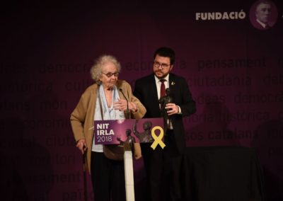 LA PRESIDENTA D'HONOR DE LA FUNDACIÓ JOSEP PALLACH, GUARDONADA A LA NIT IRLA 2018